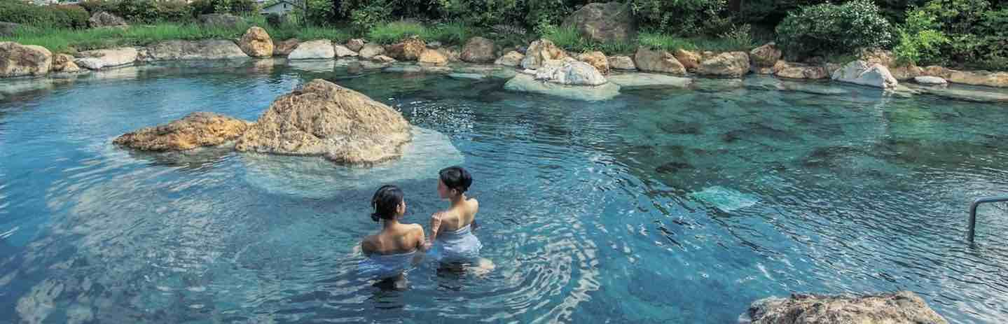 One of Kyushu's natural hot-spring spas