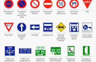 Road Signs Japan