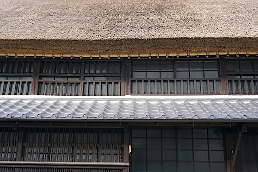 Japanese thatched roof