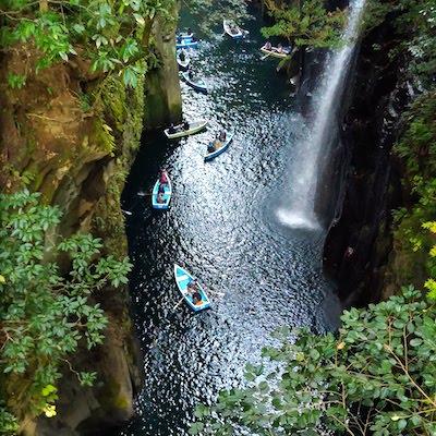 Takachiho Gorge boats