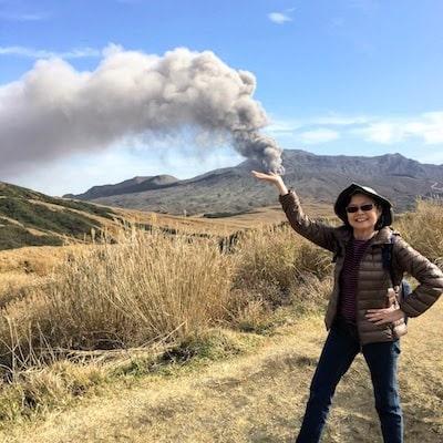 Aso volcano photo