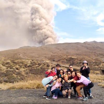 Aso volcano viewpoint