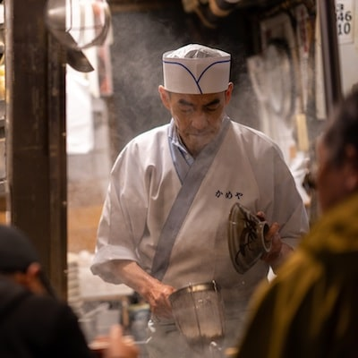 Japanese noodle chef